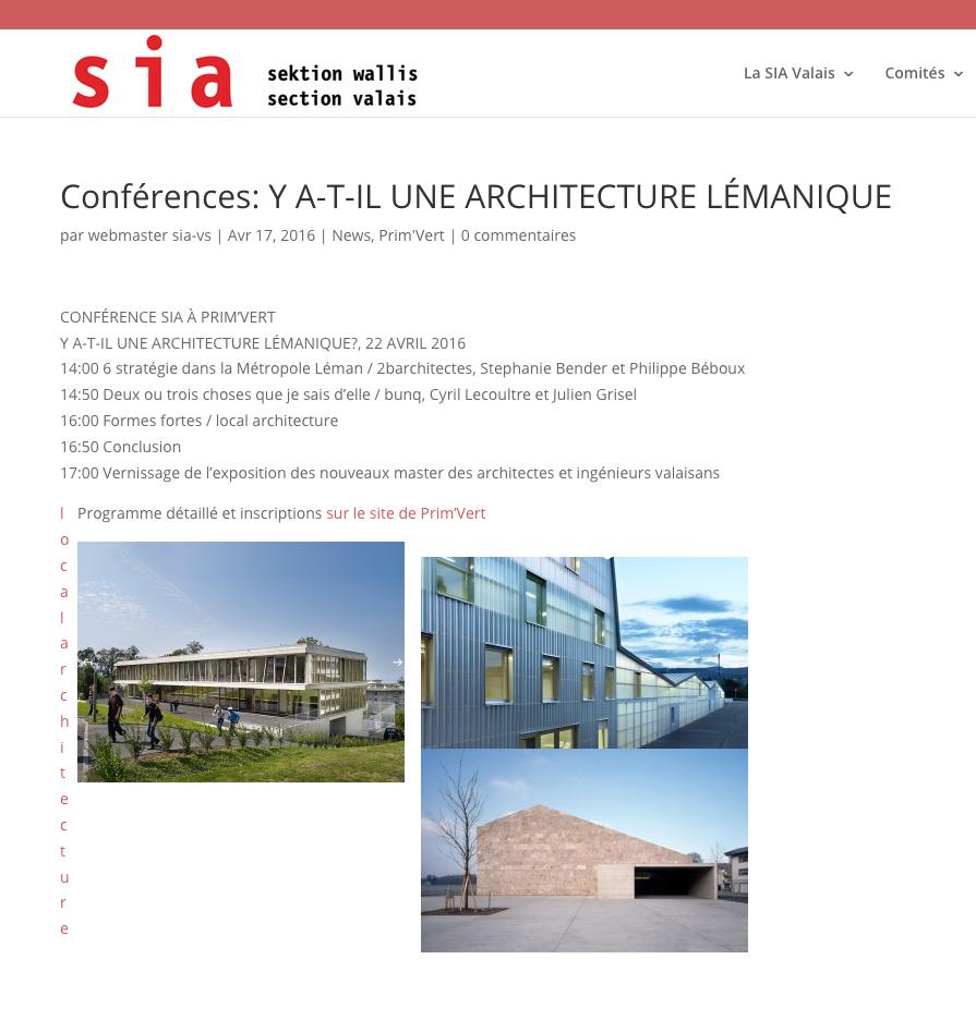 Conférence à la SIA VS : deux ou trois choses que je sais d'elle.